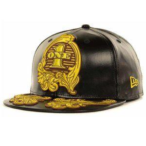 New Era Jeremy Scott Dollar Leather Fitted Hat